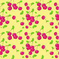 Free Vector Seamless Pattern With Cherry Stock Image - 28400831