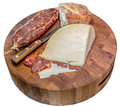 Free Salami Cheese, And Bread Stock Photos - 28401203