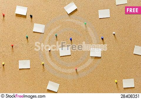 Free Cork Board Stock Image - 28408351