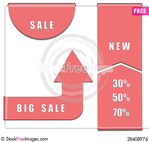 Free Sale Bookmarks For Web Royalty Free Stock Image - 28408976