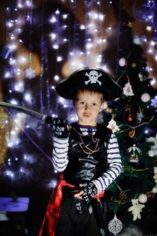 Free The Boy The Pirate Royalty Free Stock Photography - 28400607