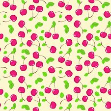 Free Vector Seamless Pattern With Cherry Stock Photos - 28400783