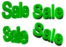 Sale Signs 3D Royalty Free Stock Image