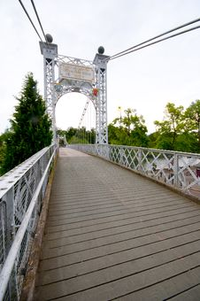 Free Chester Suspension Bridge Royalty Free Stock Images - 28403069