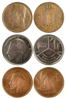 Free Rare Coins Of Belgium Royalty Free Stock Photography - 28404207