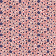 Seamless Pattern With Abstract Hand-drawn Flowers Royalty Free Stock Images
