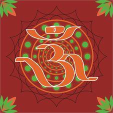 Free Hindu Aum Royalty Free Stock Photos - 28407868