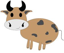 Cute Cartoon Cow Stock Photography