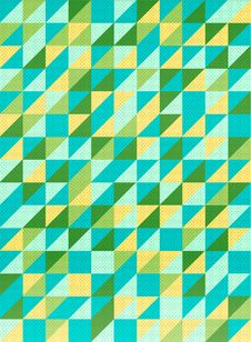 Lemon Triangular Background Royalty Free Stock Image