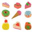 Free Sweet Things Set Royalty Free Stock Photo - 28416185