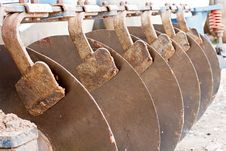 Close Up Of Disk Harrow Royalty Free Stock Photo