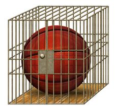 Free Jailed Basketball Stock Photos - 28414303