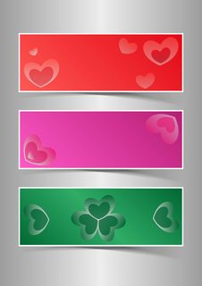 Free Valentine S Day Hearts Background Banners Stock Photos - 28417783