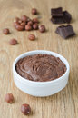 Free Walnut-chocolate Paste In A White Bowl Royalty Free Stock Photo - 28420245