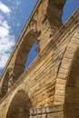 Free Pillars Of The Pont Du Gard In France Stock Photography - 28421142