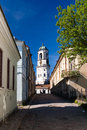 Free Old Tower With Clock In Vyborg, Russia Royalty Free Stock Image - 28422966