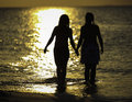 Free Two Girls And A Ocean Stock Images - 28424104