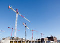 Free Cranes  On Construction Site Stock Image - 28424941