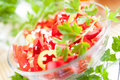 Free Salad With Fresh Sweet Red Pepper Stock Image - 28428491