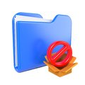 Free Blue Folder With Red Stop Sign. Royalty Free Stock Photos - 28428708