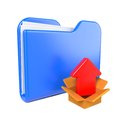 Free Blue Folder With Red Arrow. Royalty Free Stock Photos - 28428748