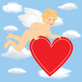 Free Cupid Fly In The Sky Royalty Free Stock Images - 28428779