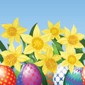 Free Easter Eggs On Meadow Royalty Free Stock Image - 28428786