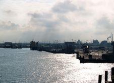 Free Industrial Terminal In Calais, France Stock Photos - 28423423