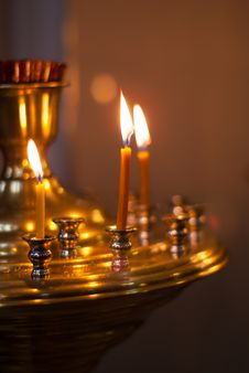 Free Candles In One Of The Churches Royalty Free Stock Image - 28426616