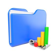 Free Blue Folder With Infograph Icon. Stock Image - 28428641