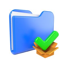 Free Blue Folder With Green Check Mark. Royalty Free Stock Images - 28428649