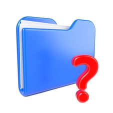 Free Blue Folder With Red Question Sign. Stock Photos - 28428673