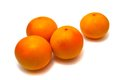 Free Four Fresh Tangerines Royalty Free Stock Photography - 28438437