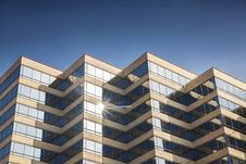 Free Modern Office Building Glowing In Sunshine Stock Image - 28430161