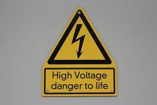 High Voltage Danger Label Royalty Free Stock Image