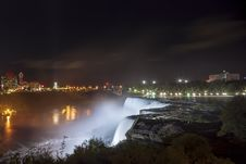 Free American Falls And Niagara Falls City In Canada Stock Photography - 28430272