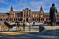 Spanish Square In Sevilla, Spain Stock Photography