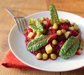 Free Salad With Beets, Peas, Cucumber Royalty Free Stock Photos - 28441468