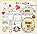 Free Calligraphic Vintage Design Elements For Valentine&x27;s Design Royalty Free Stock Photography - 28444187