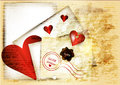 Free Cute Grunge Valentine Background With Red Heart, Paper And Words Royalty Free Stock Photo - 28444535