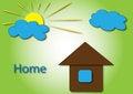 Free Sun With Home Logo Royalty Free Stock Photos - 28445078