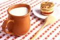Free Milk And Cake Stock Photo - 28446570