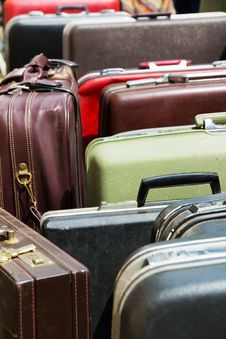 Old Vintage Bag Suitcases Stock Images