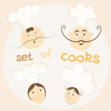 Free Icons With Chefs Royalty Free Stock Image - 28443016