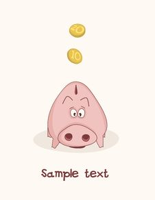 Free Pink Piggy Bank Stock Photography - 28443042