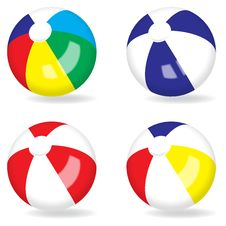 Free Beach Ball Royalty Free Stock Photo - 28443105