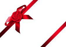 Free Red Ribbon Rose And Bow Stock Images - 28444594
