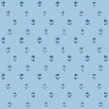 Free Vector Seamless Pattern, Little Flowers On Blue Stock Photos - 28456233