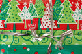 Free Detail Of Christmas Gift With Silver Ribbon Royalty Free Stock Photos - 28459838
