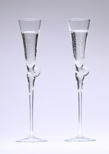 Free Glasses With Sparkling Fluid Stock Photo - 28451540